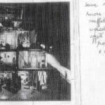 Achille Perilli. Collage. 1961. Scena XI. Bozzetto di Achille Perilli.