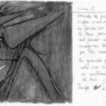 Achille Perilli. Collage. 1961. Scena II. Bozzetto di Achille Perilli.