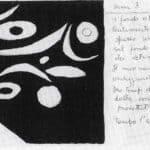 Achille Perilli. Collage. 1961. Scena IV. Bozzetto di Achille Perilli.