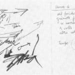 Achille Perilli. Collage. 1961. Scena V. Bozzetto di Achille Perilli.