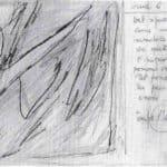 Achille Perilli. Collage. 1961. Scena VII. Bozzetto di Achille Perilli.