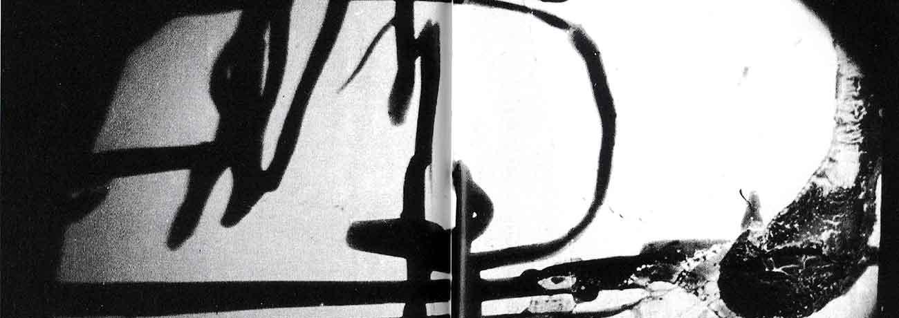 Achille Perilli. Collage. 1961. Particolare di un fotogramma dal film Collage (1961, 16mm, 4'30''), scena 8.