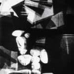Achille Perilli. Collage. 1961. Scena I delmobile. con un pieno di diapositive. Foto di Oscar Savio.