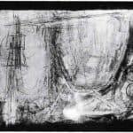 Achille Perilli. Collage. 1961. Scena VI. I velatini che producono un totale finale di colori e di luci. Foto di Oscar Savio.