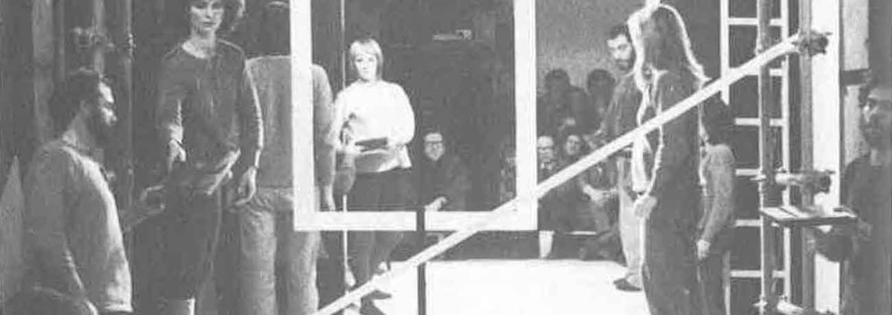 Achille Perilli, Gruppo Altro. Altro/Merz.1973. Pagina tipografica in costruzione. Pubblicata in 'Altro. Dieci anni di lavoro intercodice', edizioni Kappa, 1981