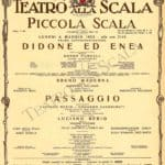 Luciano Berio. Passaggio. 1963. Locandina Piccola Scala di Milano