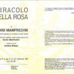 Danio Manfredini, Miracolo della Rosa, 1989, Teatro Out-Off, Milano. Libretto di sala.