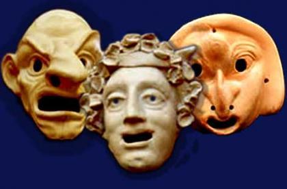 Maschera commedia greca
